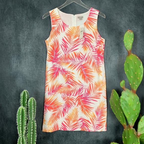 J. Jill Dresses & Skirts - NEW J. Jill Linen Sunset Palm Frond Dress Size 8P